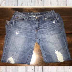 Jennifer Lopez Boyfriend Distressed Jeans